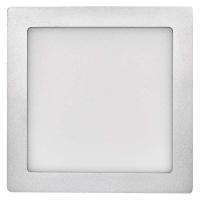 LED panel 224×224, čtvercový přisazený stříbrný, 18W neut.b.