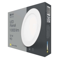 LED panel 175mm, kruhový vestavný bílý, 12W teplá bílá