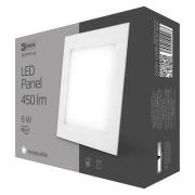 LED panel 120×120, čtvercový vestavný bílý, 6W neutrální b.