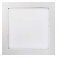 LED panel 224×224, čtvercový přisazený bílý, 18W neutr. bílá
