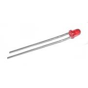 LED  3mm  červená  difuzní