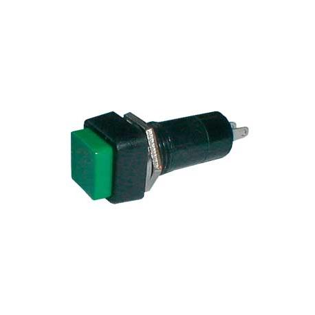 Přepínač tlačítko čtv. ON-OFF 250V/1A zelené