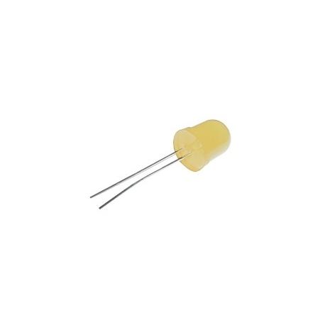 LED 10mm  žlutá  difuzní