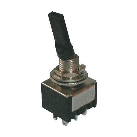 Přepínač páčkový    3pol./6pin  ON-OFF-ON plastic