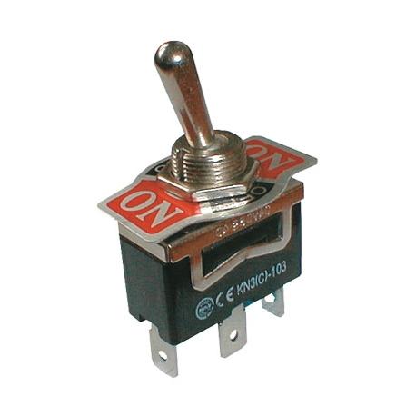 Přepínač páčkový  3pol./3pin ON-OFF-ON 250V/10A