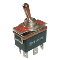 Přepínač páčkový  2pol./6pin  ON-ON 250V/10A