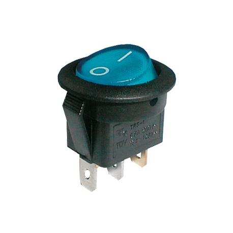 Přepínač kolébkový kul. pros.  2pol./3pin  ON-OFF 250V/6A modrý