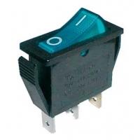 Přepínač kolébkový    2pol./3pin  ON-OFF 250V/15A pros. modrý