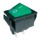 Přepínač kolébkový  2pol./4pin  ON-OFF 250V/15A pros. zelený