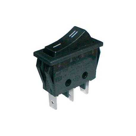 Přepínač kolébkový    2pol./3pin  ON-ON 250V/15A černý