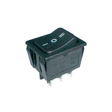 Přepínač kolébkový   3pol./6pin  ON-OFF-ON 250V/15A černý