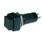 Přepínač tlačítko čtv. OFF-(ON) 250V/1A černé