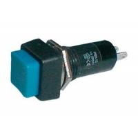 Přepínač tlačítko čtv. OFF-(ON) 250V/1A modré