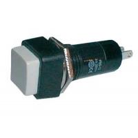 Přepínač tlačítko čtv. OFF-(ON) 250V/1A bílé