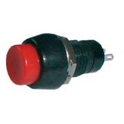 Přepínač tlačítko kul.   ON-OFF střed. červený (12V)