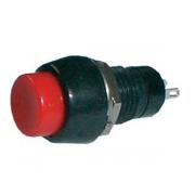 Přepínač tlačítko kul.   OFF-(ON) střed. červený (12V)
