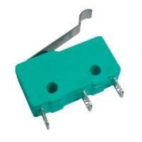 Mikrospínač ON-(ON)  5A s páčkou+z. L,17