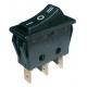 Přepínač kolébkový    3pol./3pin (ON)-OFF-(ON) 250V/15A černý