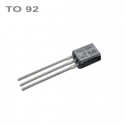 BC550C  NPN 45V,0.1A,0.5W,100MHz  TO92