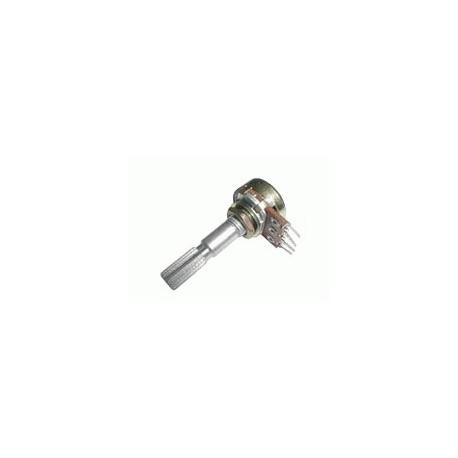 Potenciometr 250K/N  mono  6/30mm