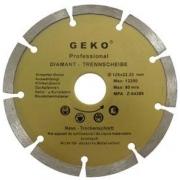 Diamantový řezný kotouč segmentový, 125x22mm, GEKO