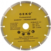Diamantový řezný kotouč segmentový, 180x22mm, GEKO