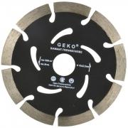 Diamantový řezný kotouč, segmentový, 125x22,2x10mm, GEKO