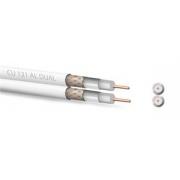 Koaxiální kabel  Zircon CU 121 AL Dual  - návin 100 m
