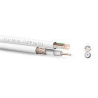 Kombi Koaxiální kabel  Zircon CU 125 AL + UTP 5e CU - návin 100 m