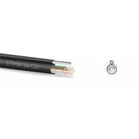 Zircon kabel FTP 5e CU 305m černý, závěsný - venkovní