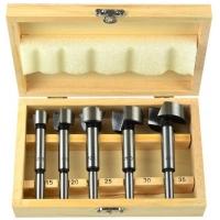 Frézy-sukovníky, do dřeva, 5ks, 15-20-25-30-35mm, stopka 8mm GEKO