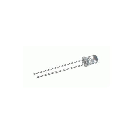 LED  5mm  bílá  4200 - 5800 mcd/30°  čirá