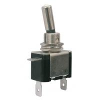 Přepínač páčkový   2pol./2pin  ON-OFF 12VDC/25A  LED bílá