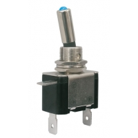 Přepínač páčkový   2pol./2pin  ON-OFF 12VDC/25A  LED modrá