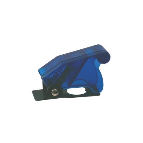 Přepínač páčkový  ochran.kryt - transp. modrá