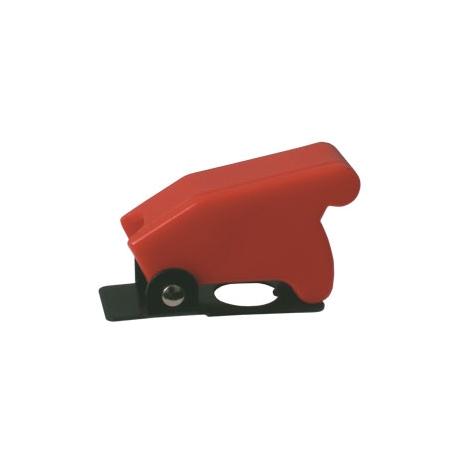 Přepínač páčkový  ochran.kryt -  červený