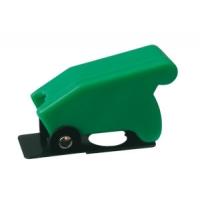 Přepínač páčkový  ochran.kryt -  zelený