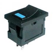 Přepínač kolébkový     2pol./4pin  ON-OFF 250V/3A LED modrý