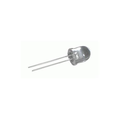LED 10mm  bílá  6000mcd/30°  čirá