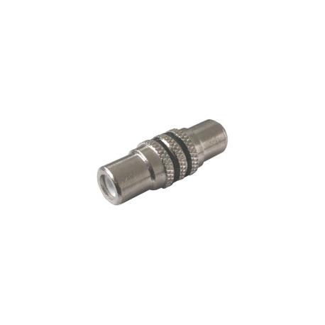 Spojka CINCH kabel/ 1xzdířka-1xzdířka kov