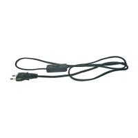 Flexo šňůra PVC 2x0,75mm 3m černá s vypínačem