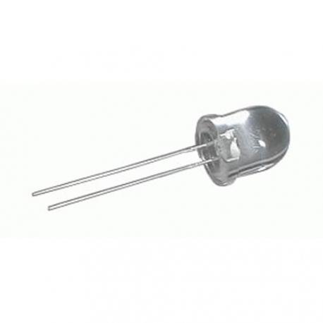 LED 10mm  bila 15000mcd/30°  cira
