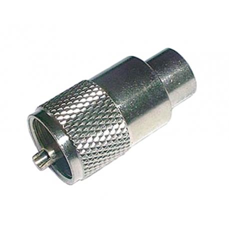 Konektor UHF (PL) kabel 10mm (RG8,213) samořez.-twist on