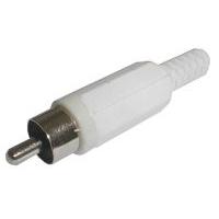 Konektor CINCH kabel plast bílý