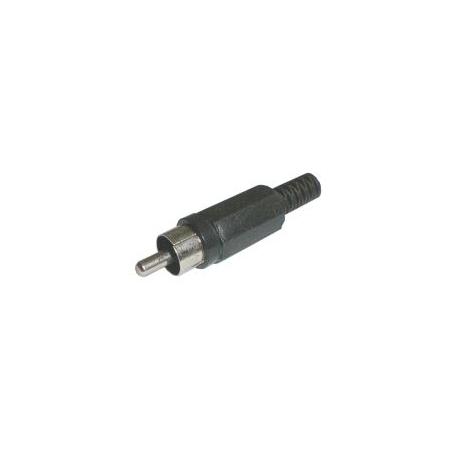 Konektor CINCH kabel  plast  černý