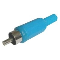 Konektor CINCH kabel  plast  modrý