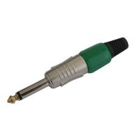 Konektor Jack 6.3 mono kov HQ zelený