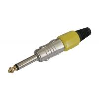 Konektor Jack 6.3 mono kov HQ žlutý