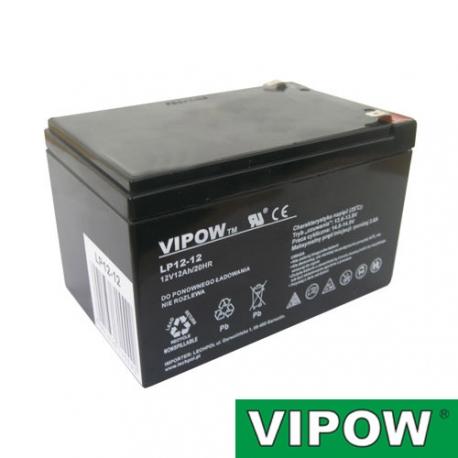 Baterie olověná  12V/12Ah  VIPOW bezúdržbový akumulátor
