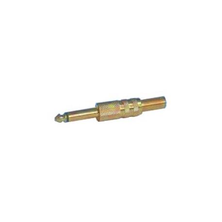 Konektor Jack 6.3 mono kov zlatý